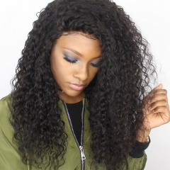 250% Density Full Lace Human Hair Wigs Brazilian Hair Deep Curly Lace Front Human Hair Wigs