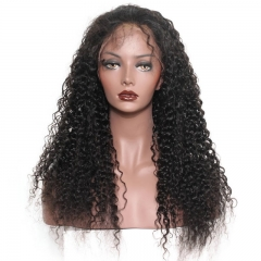 Full Lace Wig With Baby Hair 250% Dneisty Glueless Wig with Baby Hair Bleached Knots Natural Color Virgin Human Kinky Curly Hair Wig For Black Women