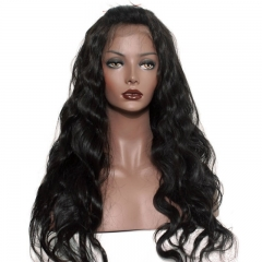 Best Full Lace Wig Human Body Wave hair 250% Density Natural Color Pre-Plucked Human Hair Lace Front Wigs with Natural Baby Hair Bleached Knots