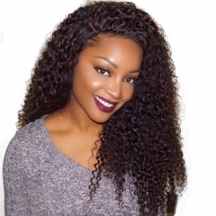250% Density Kinky Curly Brazilian Virgin Human Hair Lace Front Wigs Glueless Full Lace human Hair Wigs