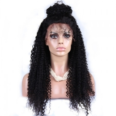250% Density Full Lace Wigs Brazilian Virgin Hair Kinky Curly Lace Front Human Hair Wigs Natural Hair Line