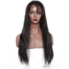 Lace Front Human Hair Wigs For Black Women Silk Straight 250% Density Pre Plucked Natural Hairline With Baby Hair Remy Hair