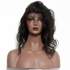 Cheap Full Lace Wigs Human Hair Wigs Natural Wave Malaysian Hair 100% Virgin Human Hair Glueless Lace Front Wigs With Natural Baby Hair