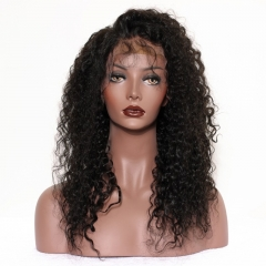 Malaysian Hair Kinky Curly 250% Density Wig Pre-Plucked with Baby Hair Natural Color Human Hair Fast Shipping