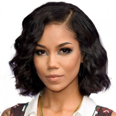 250% Density Body Wavy Human Hair Bob Wig For Black Women Bob Wig
