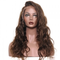 Full Lace Human Hair Wigs Body Wave 250% Density Wig Pre-Plucked Natural Hair Line with Baby Hair #4 color