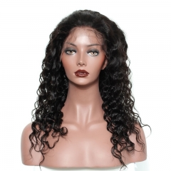 Full Lace Wig Human Hair 360 Frontal Wig 180% Density Lace Wigs With Baby Hair Bleached Knots Natural Color Human Hair