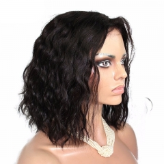 Natural High Density Bob Loose Wave 360 Lace Wigs Brazilian Virgin Hair Wigs  200% Density