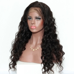 Peruvian Virgin Hair 360 Lace Wigs Loose Wave Pre Plucked 180% Density for Black Women Human Hair Wigs Bleached Knots Top Grade Virgin Hair On Sale