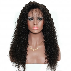 360 Lace Wigs 180% Density Deep Wave Full Lace Human Hair Wigs Brazilian Deep Curly Lace Front Wigs