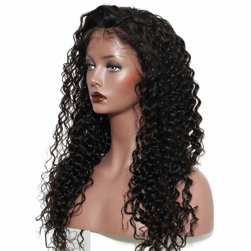 Brazilian Remy Hair Loose Curly 360 Lace Front Wigs Natural Color Hair 180% Density With Natural Hair Line Best Quality Hair For Black Women
