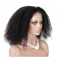 Afro Kinky Curly 360 Lace Wigs Brazilian Virgin Hair 100% Human Hair Wigs 200% Density