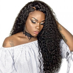 Brazilian Virgin Hair Loose Curly 360 Lace Front Wigs With Natural Hairline