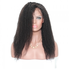Curly Lace Wig 360 Lace Wigs Virgin Brazilian Afro Kinky Curly Human Hair 150% Density Pre Plucked Natural Hair Line