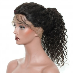 Real Hair Wigs Loose Curly 360 Lace Wigs 180% Density With Natural Hair Line 100% Human Hair Natural Color Pre plucked