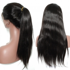 Wigs For Women 130% Density Pre Plucked 360 Lace Frontal Wig With Baby Hair Natural Black Color Silky Straight Human Hair