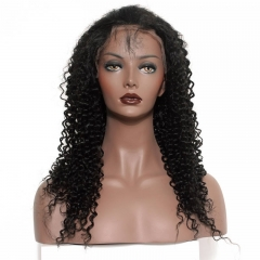 Best Place To Buy Lace Front Wigs Kinky Curly 100% Human Hair 130% Density Natural Color Lace Wig With Baby Hair Bleached Knots Pre-Plucked