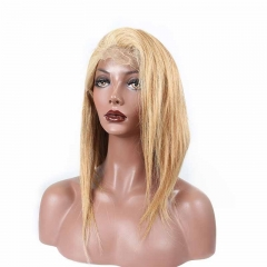 Honey Blond #27 Silky Straight 130% Density Lace Wig Pre-Plucked Lace Wigs with Baby Hair