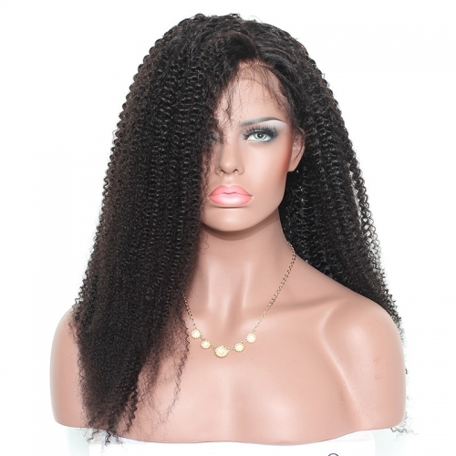 Bleached Knots Lace Front Wigs Inexpensive Brazilian Afro Kinky Curly 150% Density wigs No Shedding No Tangle Pre-Plucked Natural Hair Line