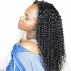 Affordable Lace Front Wigs Kinky Curly 180% Density Human Hair Front Wig With Baby Hair Pre-Plucked Natural Hair Line