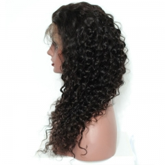 Cheap Remy Lace Front Wigs Ponytail Wigs with Baby Hair Deep Wave Pre-Plucked Natural Hair Line 150% Density