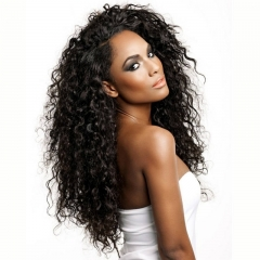 Curly Lace Front Wigs Deep Wave 250% Density Natural Hairline Pure Color Pre-Plucked With Baby Hair Bleached Knots