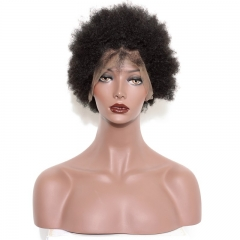 Lace Front Wig Cheap High Quality Brazilian Virgin Human Hair Wigs Kinky Curly Natural Color Lace Wigs For Blace Women