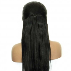 Lace Front Wig With Baby Hair High Quality Natural Color Human Hair Wigs 100% Indian Virgin Hair Bleached Knots