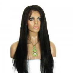 Long Lace Front Wigs 150% Density Silky Straight Brazilian Human Hair Natural Color Hair Pre-Plucked Natural Hair Line