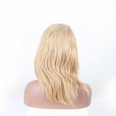 Blonde Human Hair Lace Front Wigs Color #27 Silky Staight Natural Color Pre-Plucked Lace Wig with Baby Hair