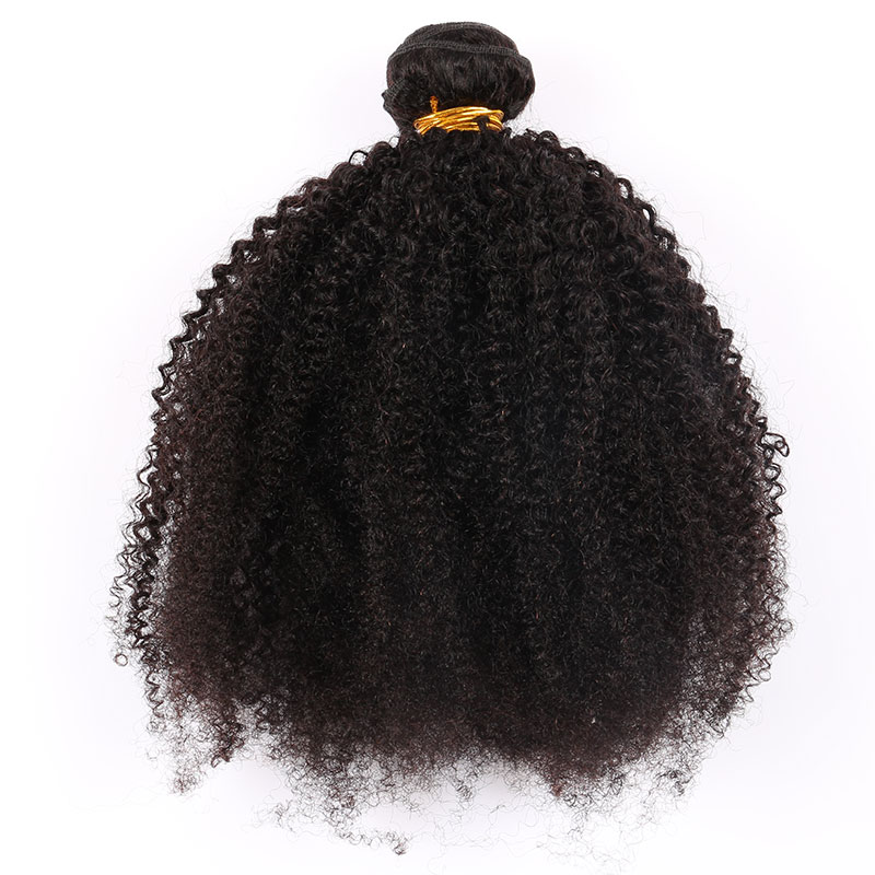 3 Bundles Mongolian Afro Kinky Curly Weave Human Hair Extensions