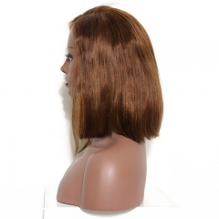 Fashion Girl'S Favorite Long And Short 180% Density Wigs Human Hair Real Lace Wigs Bleached Knots Pre-Plucked