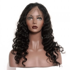 Full Lace Ponytail Wigs Loose Wave With Baby Hair Pre-Plucked Natural Hair Line 150% Density Wigs