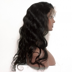 Full Lace Wigs 150% Density Human Hair Wigs With Baby Hair Elastic Cap Body Wave Pre-Plucked Natural Hair Line