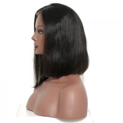Short Full Lace Wigs Human Hair 180% Density Bleached Knots Pre Plucked Fashion Girl's Favorite Long And Short Glueless Wigs For Black Women