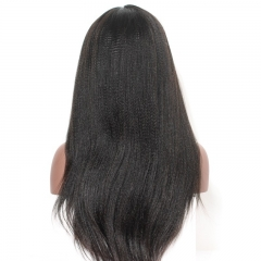 Silk Top Full Lace Wigs Light Yaki Brazilian Silk Base Ponytail Wigs 150% Density Wigs No Shedding Pre-Plucked Natural Hair Line