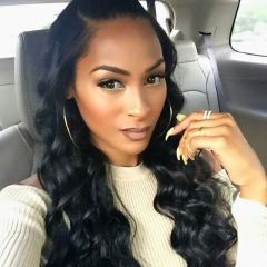 Silk Top Full Lace Wigs Full Lace Wigs 150% Density Human Hair Wigs With Baby Hair Elastic Cap Loose Wave Pre-Plucked Natural Hair Line