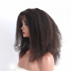 Brazilian Wigs 150% Density Natural Hair Line Afro Kinky Curly Silk Base Full Lace Wigs Real Human Hair Wigs