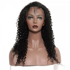 Silk Top Full Lace Wigs Best Place To Buy 72H Delivery Natural Black Kinky Curly Brazilian Virgin Hair Silk Base Human Hair Wigs