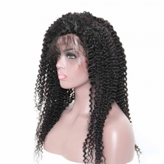 Silk Top Human Wigs Kinky Curly Glueless Silk Base Full Lace Wigs With Baby Hair Pre-Plucked Natural Hair Line 150% Density