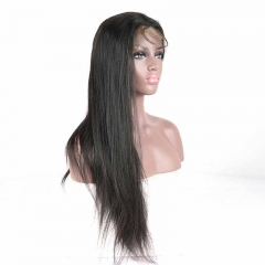 Cheap Silk Top Full Lace Wigs Cheap Black Natural Color Light Yaki Affordable Full Lace Wigs Brazilian Virgin Hair Silk Base Human Hair Wigs