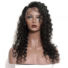 Silk Top Full Lace Wigs Good Quality Pre-Plucked Natural Hair Line Deep Wave 150% Density Wigs No Shedding