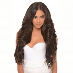 Silk Top Full Lace Wigs Curly Body Wave 150% Density Good Human Hair Wigs With Baby Hair Elastic Cap Pre-Plucked Natural Hair Line