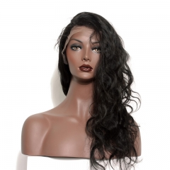 Silk Top Full Lace Wigs Discount For Black Women Elastic Cap 100% Human Hair Wig Body Wave Pre-Plucked Natural Hair Line