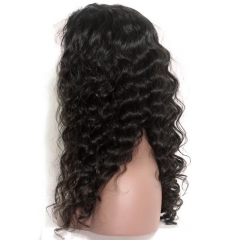 Cheap Glueless silk base Full Lace Human Hair Wigs Natural Color Loose Wave Brazilian Virgin hair 8-24 inch in stock