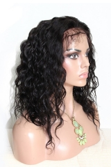 African American Human Hair Wigs Silk Top Full Lace Wigs High Quality Natural Black Natural Wave Brazilian Virgin Human Hair Wig