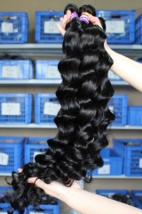 Natural Color Indian Remy Human Hair Loose Wave Hair Weave 3 Bundle Deals