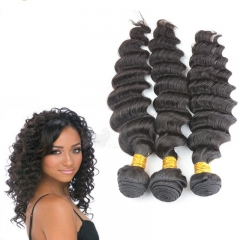3pcs lot 100g Unprocessed 8A Grade brazilian Virgin Hair Extensions 3 Bundles Deep Wave Human Hair Weft Free Shipping
