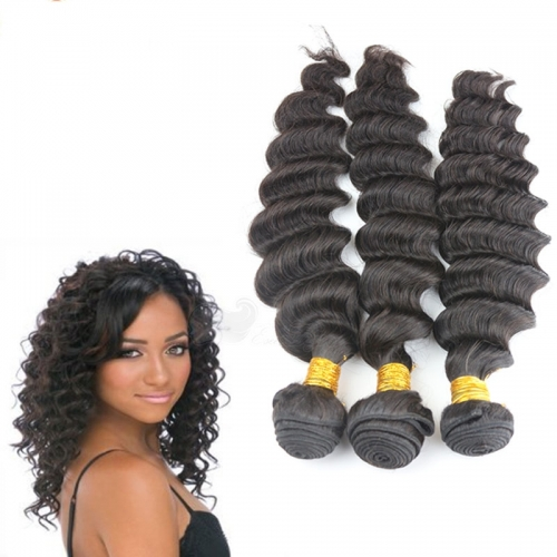 3pcs lot 100g Unprocessed 8A Grade brazilian Remy Hair Extensions 3 Bundles Deep Wave Human Hair Weft fast shipping