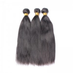 Italian Yaki Straight Brazilian Human Hair 3 Pcs/Lot Natural Color Hair Weave Bundles